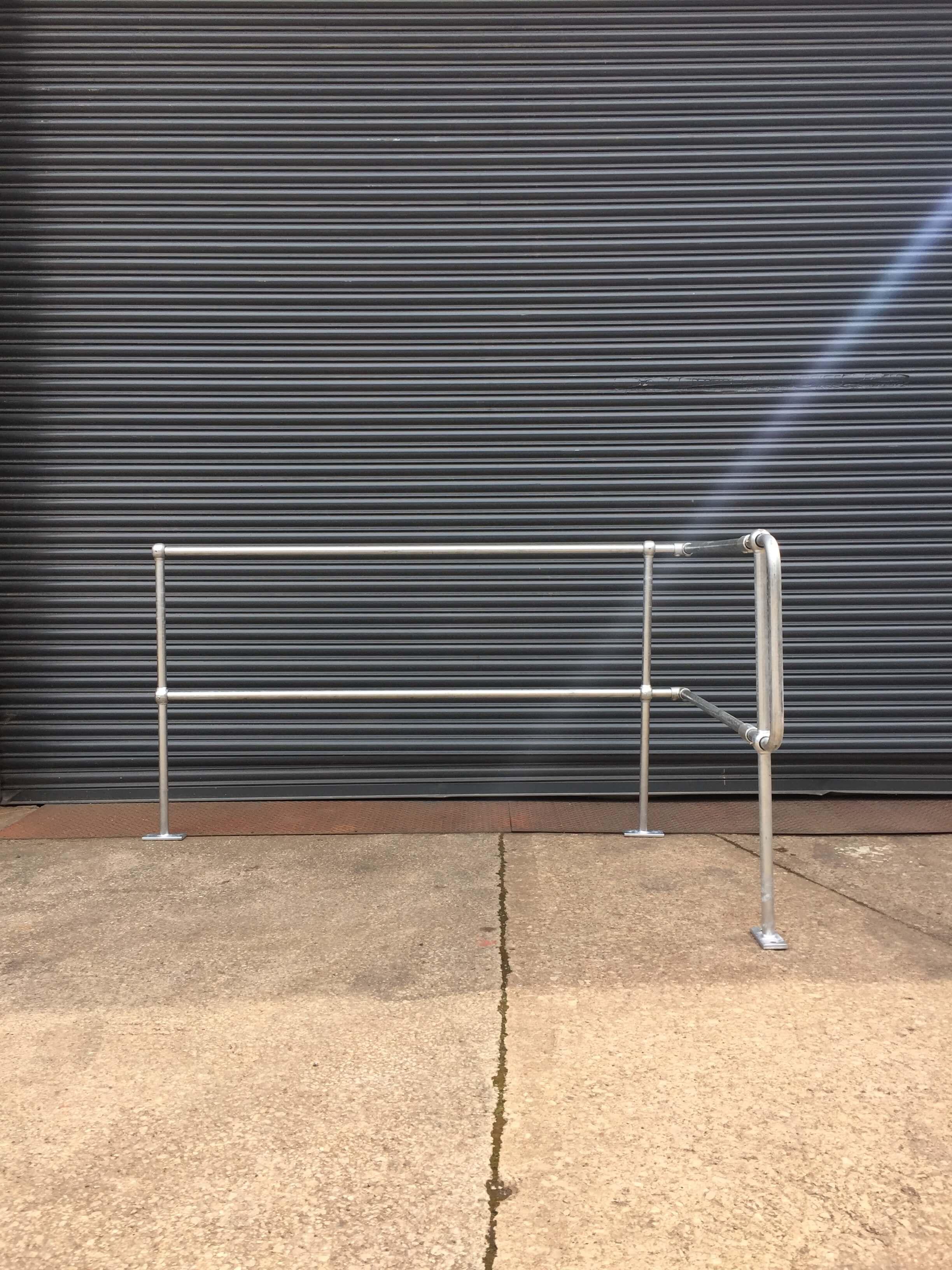 Galvanised Tubular Handrail Post Type 1A - Handrail Safety ...